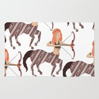archer Area & Throw Rugs featuring ARCHER by Kiley Victoria