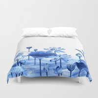 lotus Duvet Covers featuring Lotus by Jill Byers