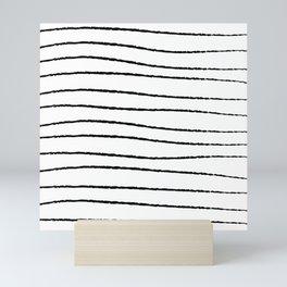 Hand Drawn Horizontal Stripes Mini Art Print