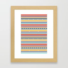 Multicolored lines and dots Framed Art Print