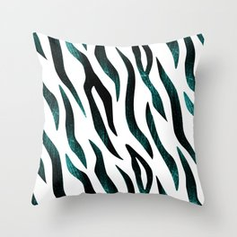 Here Kitty Kitty - Teal Throw Pillow