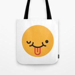 Emojis: Crazy face Tote Bag