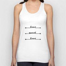 Love sweet love - valentine Unisex Tank Top