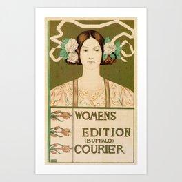 1895 Buffalo Courier for women  New York Art Print