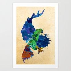 Rainbow Hawk Art Print