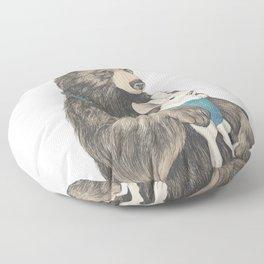 the bear au pair Floor Pillow