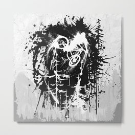 Ink Rider Metal Print
