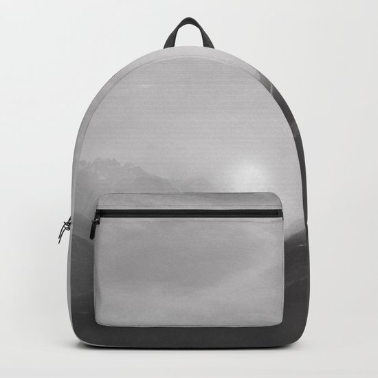 Pastel vibes 08 Black and White Backpack
