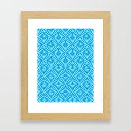 Scales - Blues #294 Framed Art Print