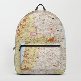 Map of the West Bank and Gaza Strip (1979) Backpack