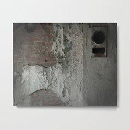 Crumbling Metal Print