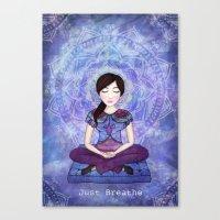meditation Canvas Prints featuring Meditation by Art, Love & Joy Designs