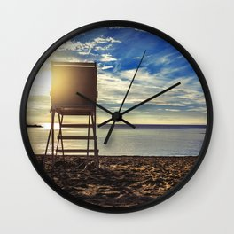 Lifeguard Stand Lake Erie Pennsylvania Wall Clock