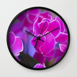 cyclamen in the garden Wall Clock