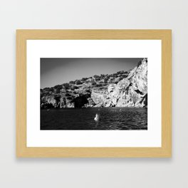 Girl in Lake Framed Art Print