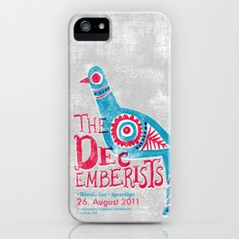 The Decemberists Gigposter iPhone Case