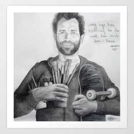 """Mark Gonzales - The Gonz - """"My Age has Nuthin to do with How Much Fun I have"""" Art Print"""