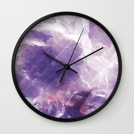 Amethyst gemstone Wall Clock