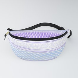 Abstract geometrical blue lilac violet watercolor stripes texture Fanny Pack