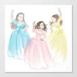 Sisters at Work Canvas Print