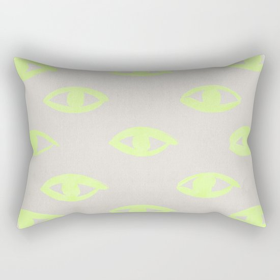 natural neon (eyes) Rectangular Pillow