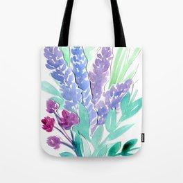 Lavender Floral Watercolor Bouquet Tote Bag