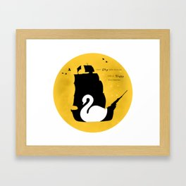 CAPTAIN SWAN (Yellow) Framed Art Print