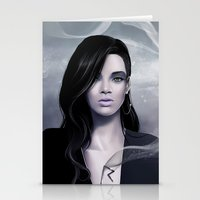 rihanna Stationery Cards featuring Rihanna by Nicolas Jamonneau