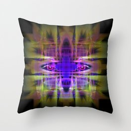 Electric Goddess Throw Pillow