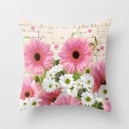Bonanza of Flowers Throw Pillow