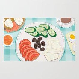 Fresh Home-cooked Turkish Breakfast Rug