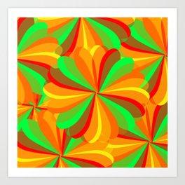 Retro Hip Multi-colored  Summer Pattern Art Print