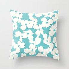 Dogwood: Aquamarine  Throw Pillow