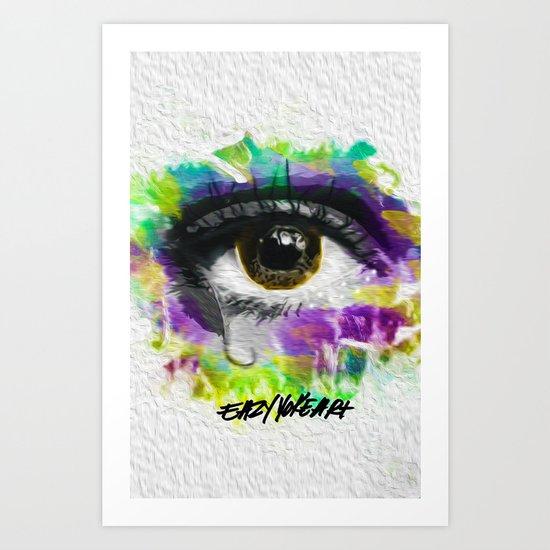 Eye wipe every tear Art Print
