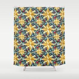 christmas stars pattern Shower Curtain