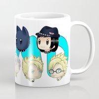 dmmd Mugs featuring DMMD- chibis by prpldragon