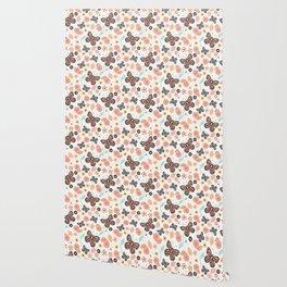 Flowers and butterflies pattern 003 Wallpaper