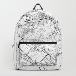 Florence Map White Backpack
