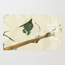 Contrabassist. Jazz Club Poster Rug