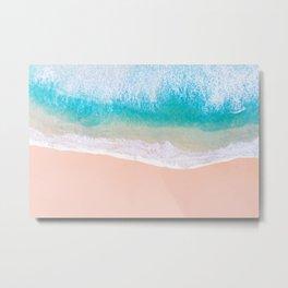 Ocean in Millennial Pink Metal Print