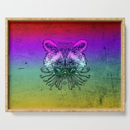 Cool Raccoon Color Serving Tray