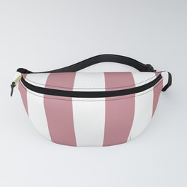 Pretty Pink Doll Bow and White Wide Cabana Stripes Fanny Pack