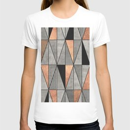 Concrete and Copper Triangles T-shirt