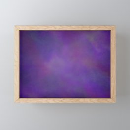 Abstract Soft Watercolor Gradient Ombre Blend 14 Dark Purple and Light Purple Framed Mini Art Print