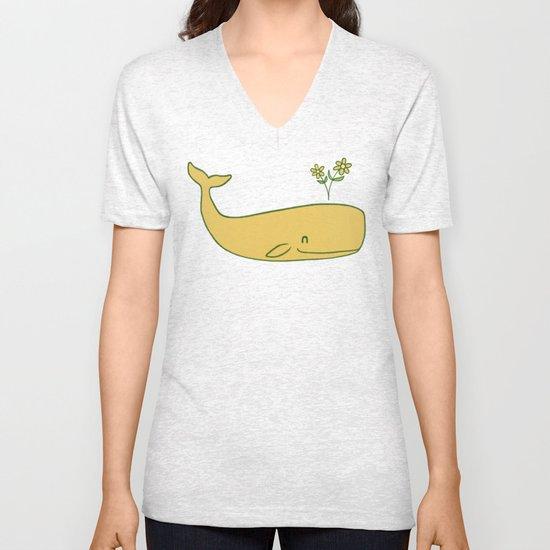 Peace Whale - colour option Unisex V-Neck