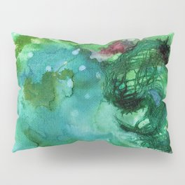 Blue Textured Abstract Pillow Sham