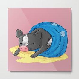 cow pig Metal Print