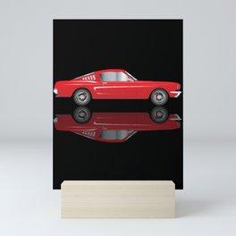 Very Fast Red Car Mini Art Print
