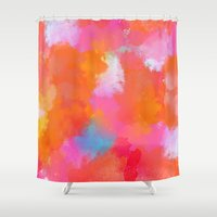 blush Shower Curtains featuring blush by Lasse Egholm