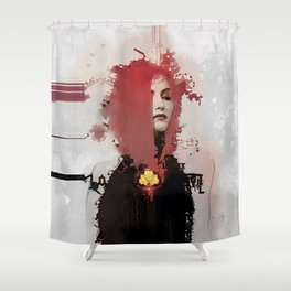 With regards; elaboration Shower Curtain